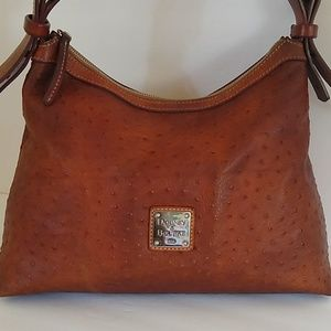 Dooney & Bourke Ostrich Embossed Leather Satchel